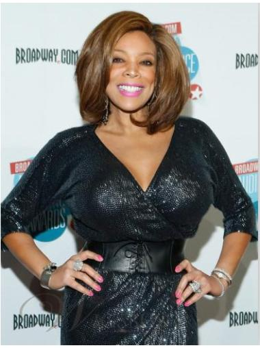 Capless Wavy Cheap Wendy Williams Real Hair Womens Wigs