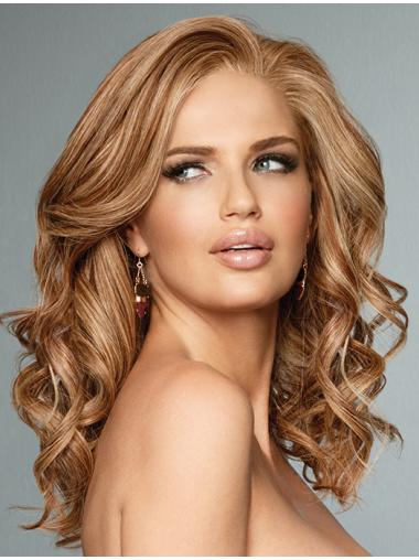 """Copper Without Bangs Curly 16"""" Popular Most Real Wig Lace Front Wigs"""
