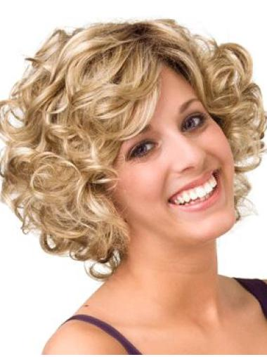 Blonde Curly Chin Length New Best Wigs Real Hair