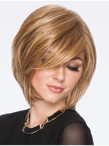Straight Chin Length Natural 10 Inches Blonde Flawless Bob Wig