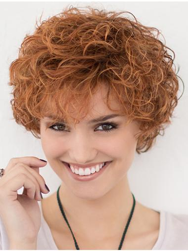 Layered Curly 10 Inches Trendy Multi Color Lace Front Wigs