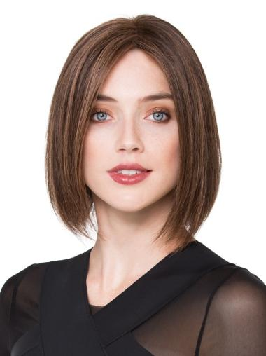 Brown Bobs Stylish Real Hair Lace Wigs