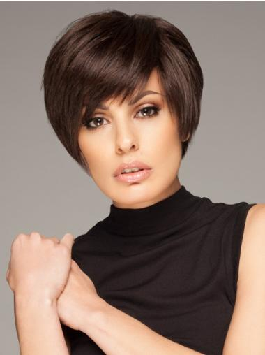 Soft Remy Human Hair Short Straight Wigs