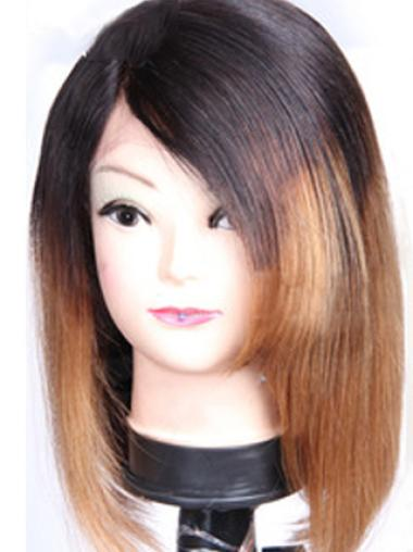 Exquisite 12 Inches Remy Human Hair Shoulder Length Wigs For Black Womans