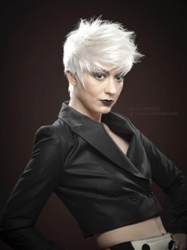 8 Inches Soft Short Remy Human Hair High Quality Fashion Wigs