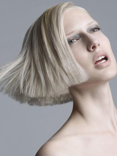 Grey Synthetic Sassy Young Fashion Short Grey Wigs
