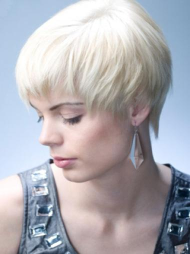 Grey Synthetic Cheap Short Style Fashion Wigs