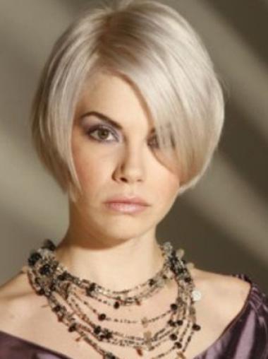 Grey Synthetic Designed Women'S Fashion Wigs Short