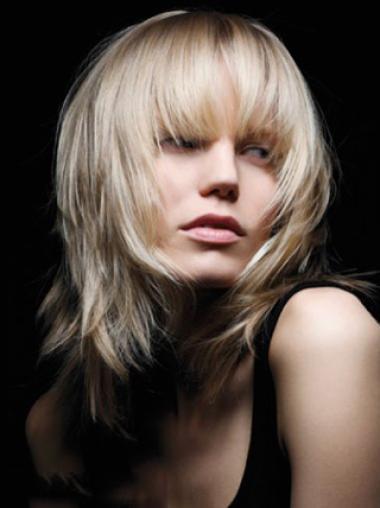 Wavy Chin Length With Bangs Young Fashion World Hair