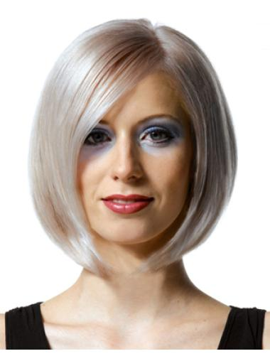 Straight Chin Length Bobs Fashion Sense Hand Tied Wig Collection