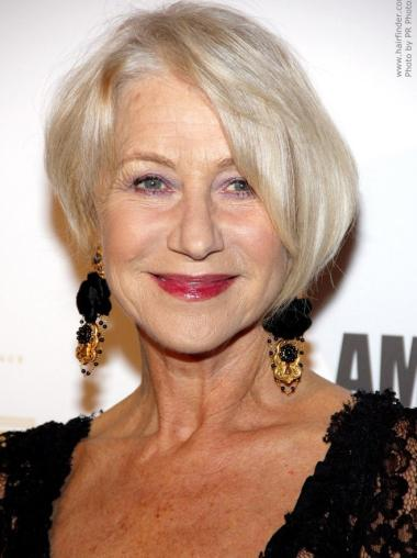 Straight Capless Chin Length Style Grey Blonde Wig