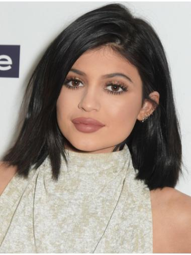 Black Straight 12 Inches Style Kylie Jenner Wigs