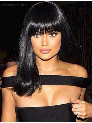 Lace Front With Bangs Remy Human Hair Discount Kylie Jenner Wig For Sale