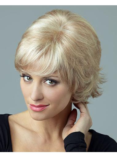 Popular Blonde Synthetic Lace Front Short Wigs