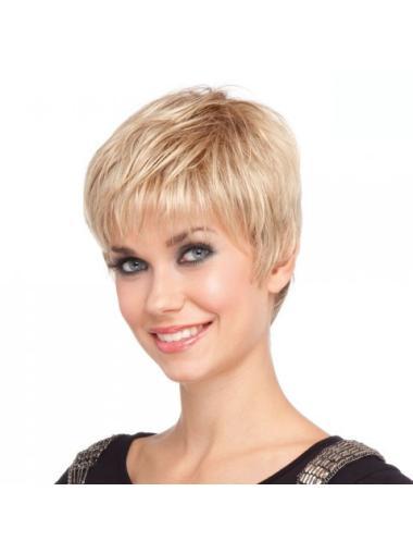 Amazing Capless Blonde Short Wig Cap Hairstyles