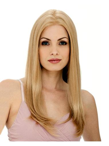 Straight Blonde Layered Top Human Hair Wigs Online