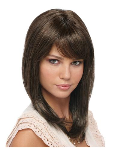 Durable 16 Inches Straight Full Lace Synthetic Wigs