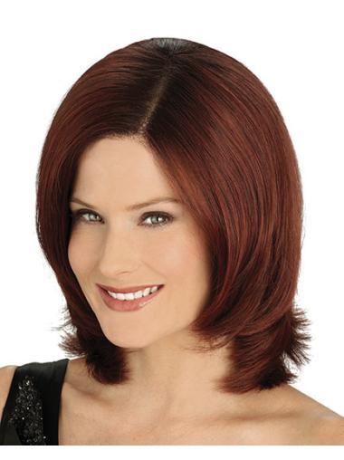 Sassy Auburn Straight Chin Length Best Wigs For Older Women