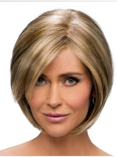 Straight Chin Length 10 Inches Ideal Monofilament Wigs