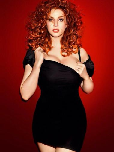 Lace Front Long Wigs Synthetic Hairstyles Christina Hendricks