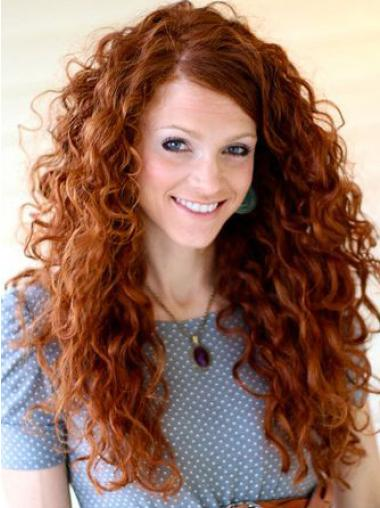 Lace Front Without Bangs Long Curly Wigs Flexibility Celebrity
