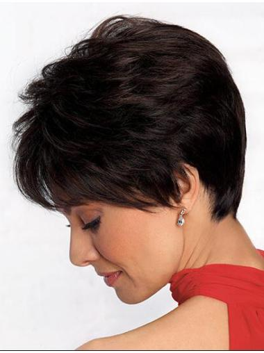 Black Boycuts Straight 4 Inches Stylish Short Wigs
