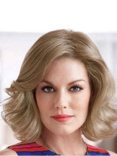 Blonde Synthetic Wavy Discount Classic Lace Front Wigs For Sale