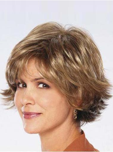Layered Chin Length Synthetic Best Capless Natural Looking Wigs
