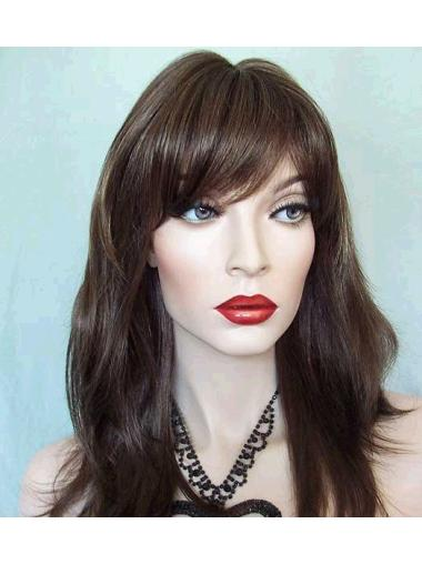 Fabulous Lace Front Straight With Bangs Cheap Nice Long Wigs