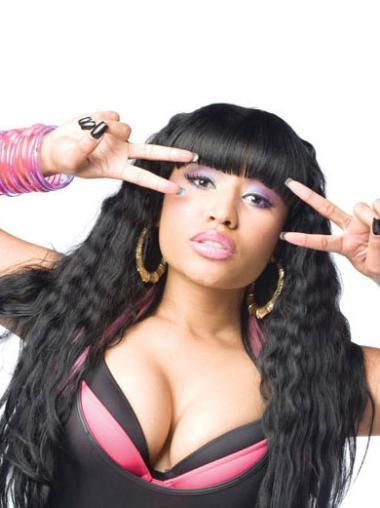 Black With Bangs Long Modern Nicki Minaj Wig