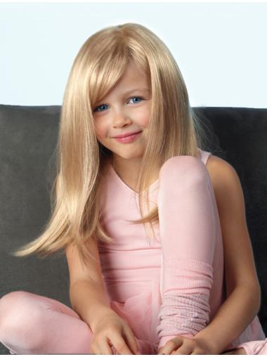 Amazing Straight 18 Inches Synthetic Wigs For Children