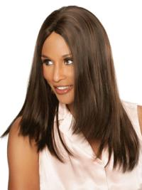 Lace Front Without Bangs Long Stylish Beverly Johnson 100% Human Hair Wigs