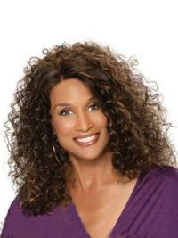 Full Lace Without Bangs Beverly Johnson Human Hair Curly Wigs