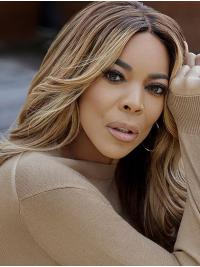 High Quality Shoulder Length Wavy Without Bangs Blonde Wendy Williams Wigs