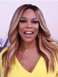 Top Long Wavy Without Bangs Blonde Wendy Williams Wigs