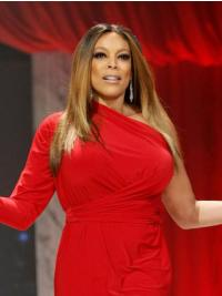 Trendy Shoulder Length Straight Without Bangs Blonde Wendy Williams Wigs