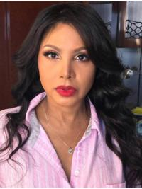 Suitable Without Bangs Wavy Black Long Toni Braxton Wigs