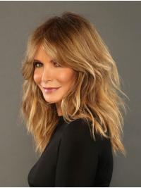 "Wavy 14"" Lace Front Shoulder Length Layered Blonde Sassy Jaclyn Smith Wigs"