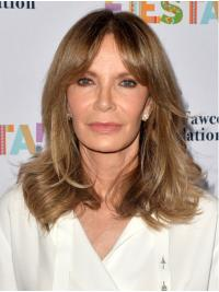 """Wavy 14"""" Lace Front Shoulder Length Layered Blonde Designed Jaclyn Smith Wigs"""