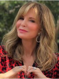 "Wavy 14"" Capless Shoulder Length With Bangs Blonde Flexibility Jaclyn Smith Wigs"