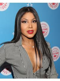 """Straight 20"""" Lace Front Long Without Bangs Black New Toni Braxton Wigs"""