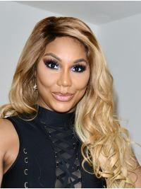 "Curly 24"" Lace Front Long Without Bangs Ombre/2 Tone Great Toni Braxton Wigs"