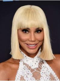 """Straight 12"""" Capless Chin Length Bobs Grey Exquisite Toni Braxton Wigs"""