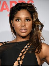 """Wavy 14"""" Lace Front Shoulder Length Without Bangs Ombre/2 Tone Stylish Toni Braxton Wigs"""
