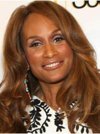 """Wavy 20"""" Full Lace Long Without Bangs Blonde For Women Beverly Johnson Wigs"""