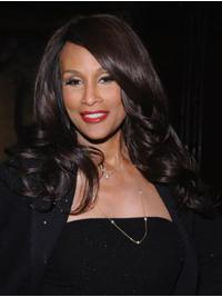 """Wavy 16"""" Lace Front Long Without Bangs Brown Beautiful Beverly Johnson Wigs"""