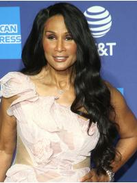 """Wavy 26"""" Lace Front Long Without Bangs Black Fabulous Beverly Johnson Wigs"""