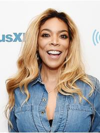 """Wavy 16"""" Full Lace Long Without Bangs Blonde Great Wendy Williams Wigs"""