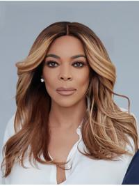 """Wavy 16"""" Lace Front Long Without Bangs Ombre/2 Tone Suitable Wendy Williams Wigs"""