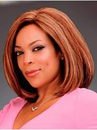 """Straight 12"""" Lace Front Shoulder Length Bobs Auburn Popular Wendy Williams Wigs"""